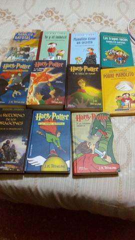 Libros de Manolito Gafotas y Harry Potter
