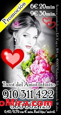 Videncia y Tarot del Amor 910311422 VISA desde 4EUR 15 min/